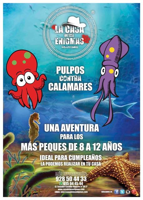 Pulpos contra calamares